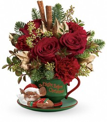 Night Before Christmas Teacup from Westbury Floral Designs in Westbury, NY