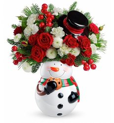 Frosty the Snowman in Bloom from Westbury Floral Designs in Westbury, NY
