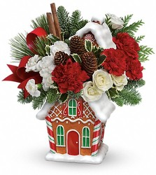 Gingerbread Cookie Jar Jolly from Westbury Floral Designs in Westbury, NY