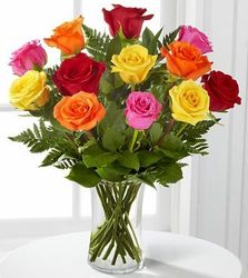 A Dozen Mixed Roses from Westbury Floral Designs in Westbury, NY