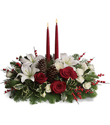 Christmas Wishes Centerpiece from Westbury Floral Designs in Westbury, NY