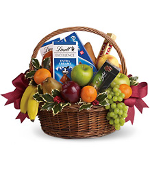 Fruits and Sweets Christmas Basket from Westbury Floral Designs in Westbury, NY