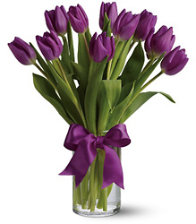 Passionate Purple Tulips from Westbury Floral Designs in Westbury, NY