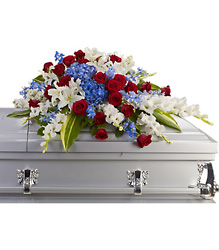 Distinguished Service Casket Spray from Westbury Floral Designs in Westbury, NY