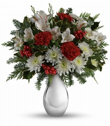 Silver And Snowflakes Bouquet from Westbury Floral Designs in Westbury, NY
