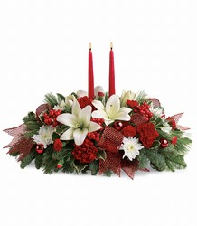 Yuletide Magic Centerpiece from Westbury Floral Designs in Westbury, NY