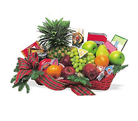 Fruit and Gourmet Basket from Westbury Floral Designs in Westbury, NY