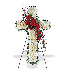 Hope and Honor Cross from Westbury Floral Designs in Westbury, NY